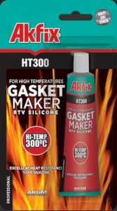 Akfix HT300 siliconen pakking hoge temperatuur (300ºC) - Rood - 85 gram