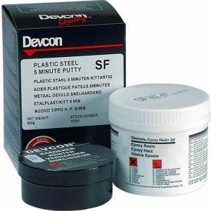 DEVCON SF 5-Minute (10241) staal epoxy pasta voor snelle reparaties - 500 gram