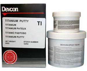 DEVCON TI - TITANIUM - (10761) kneedbaar titanium - 500 gram
