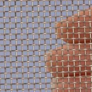 Proefstrip (staal) (RVS) gaas mesh 10 (2000 micron)  - ongeveer 10 x 25 cm