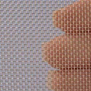 Proefstrip (staal) (RVS) gaas mesh 20 (800 micron)  - ongeveer 10 x 25 cm