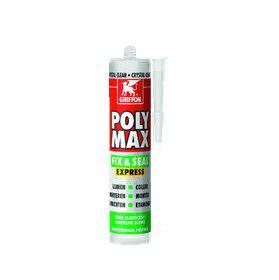 Griffon Poly Maxi Fix & Seal Express, crystal clear 300 gram koker