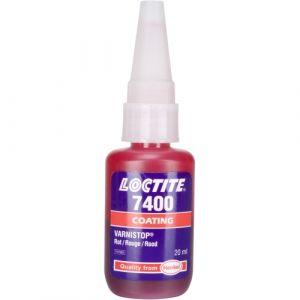 Loctite 7400, vernistop donkerrode zegellak op oplosmiddelbasis, 20ml