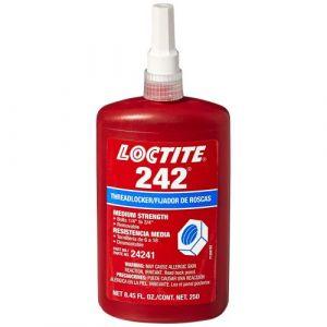 Loctite 242 schroefdraadborger gemiddelde sterkte 250 ml