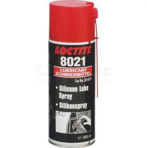Loctite 8021 Voedingsmiddelen goedgekeurde siliconenolie, 400ml, aerosol.