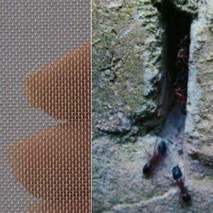 Fijnmazig mierengaas Roestvrijstaal 0,3 mm opening - 1x1 meter