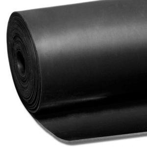 Zwarte plaat rubber (SBR) 1,0 mm dik - 1x1 meter