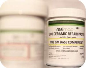 Resimac 201 Slijtvaste keramische metaal reparatie pasta - 1 kg