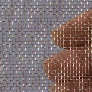 Proefstrip (staal) (RVS) gaas mesh 16 (1400 micron)  - ongeveer 10 x 25 cm