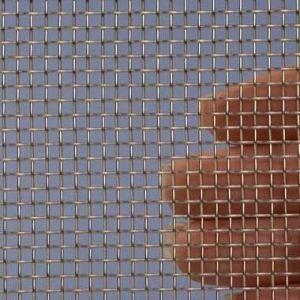 Proefstrip (staal) (RVS) gaas mesh 7  (3000 micron) ongeveer 10 x 25 cm