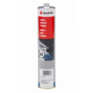 Wurth Kleeft + dicht power NSF- 300 ml grijs