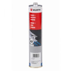 Wurth Kleeft + dicht power NSF  Elastische, hybride constructielijm - 300 ml wit
